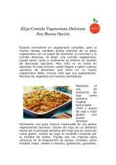 Elija Comida Vegetariana Deliciosa Son Buena Opción.docx