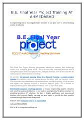 B.E. Final Year Project Training AT AHMEDABAD (1).doc