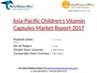 Asia-Pacific Children's Vitamin Capsules Market Report 2017.pptx