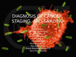 Group E DIAGNOSIS OF CANCER, STAGING, AND GRADING Gr.ppt