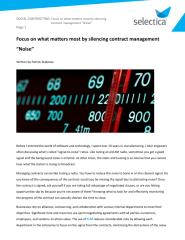 """Focus on what matters most by silencing contract management """"Noise"""" - Selectica.pdf"""