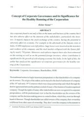 CONCEPT OF CORPORATE GOVERNANCE AND ITS SIGNIFICANCE FOR THE HEALTHY RUNNING OF THE CORPORATION.pdf