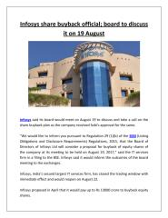 Infosys share buyback official; board to discuss it on 19 August.pdf