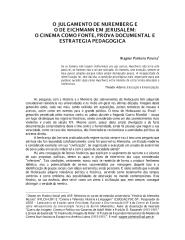 Wagner Pinheiro Pereira - O Julgamento de Nuremberg e o de Eichmann em Jerusalém.pdf