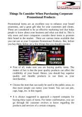 Things To Consider When Purchasing Corporate Promotional Products.doc