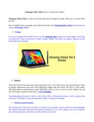 Samsung-Galaxy-Tab-4-Review-Under-The-Scanner.pptx