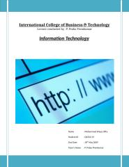 Assignment - Information Technology.doc