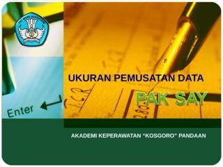 1. Penyajian & Pemusatan Data.ppt